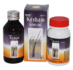 KESHAM TABLETS & OIL (NATURAL HAIR TONIC)- For Dark, Healthy & Shining Hair